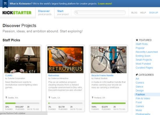 Kickstarter Online Funding