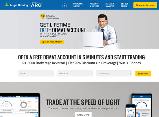 Angel Broking Demat and Trading Account in India