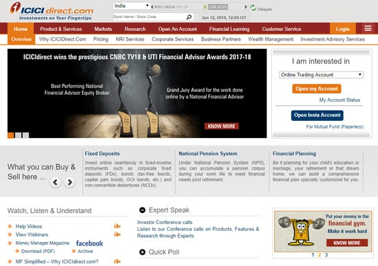 ICICI Direct Demat and Trading Account in India
