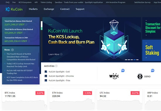 KuCoin buy cryptocurrency