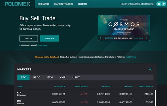 Poloniex Bitcoin exchange
