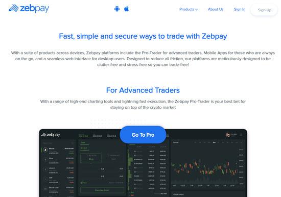 Zebpay Cryptocurrency Exchange